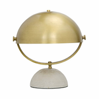 Noir Furniture Moon Table Lamp, Antique Brass
