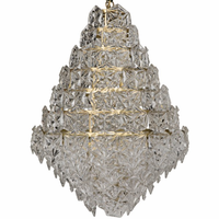 Noir Furniture Neive Chandelier, Large, Metal w/Brass