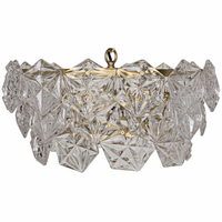 Noir Furniture Neive Chandelier, Small, Metal w/Brass