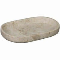 Noir Furniture Oval Tray, White Marble