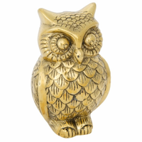 Noir Furniture Owl, B, Brass