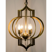 Noir Furniture Palace Pendant, Antique Brass