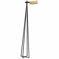 Noir Furniture Parma Floor Lamp, Antique Brass