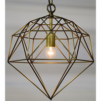 Noir Furniture Perruzi Pendant, Metal w/Brass Finish