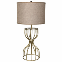 Noir Furniture Perry Table Lamp, Antique Brass