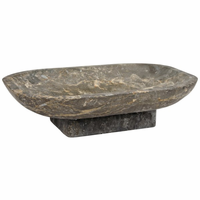 Noir Furniture Pia Fruit Bowl, Black Marble