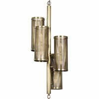 Noir Furniture Pisa Pendant, Antique Brass
