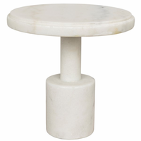 Noir Furniture Plato Cake Tray, White Stone
