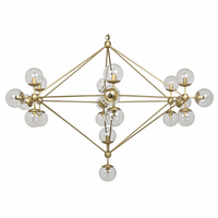Noir Furniture Pluto Chandelier, Large, Antique Brass