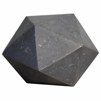 Noir Furniture Polyhedron Object, Black Marble