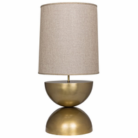 Noir Furniture Pulan Table Lamp, Antique Brass