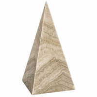Noir Furniture Pyramid, White Marble
