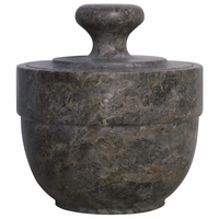 Noir Furniture QS Black Marble Sugar Urn