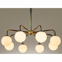 Noir Furniture QS Larenta Chandelier, Antique Brass,