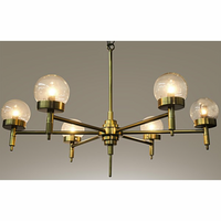 Noir Furniture QS Leslie Chandelier, Antique Brass