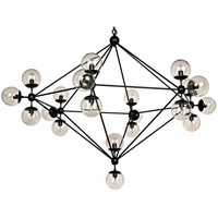 Noir Furniture QS Pluto Chandelier, Large
