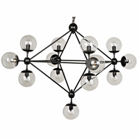 Noir Furniture QS Pluto Chandelier, Small
