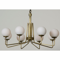 Noir Furniture QS Ray Chandelier, Antique Brass, Metal