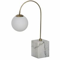 Noir Furniture QS Soldity Table Lamp, Antique Brass,