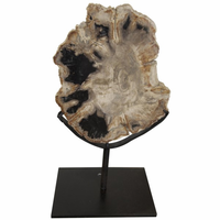 Noir Furniture QS Wood Fossil with Stand, 10""