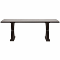 Noir Furniture QS X Dining Table, Hand Rubbed Black