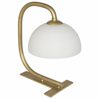 Noir Furniture Roman Lamp, Antique Brass Finish
