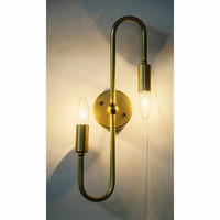 Noir Furniture Rossi Sconce, Antique Brass
