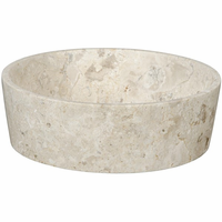 Noir Furniture Round Tray, White Marble
