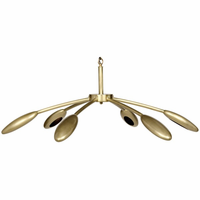 Noir Furniture Rufus Chandelier, Small, Antique Brass