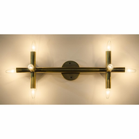 Noir Furniture Salome Sconce, Antique Brass