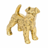 Noir Furniture Schnauzer, Small, Brass