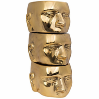 Noir Furniture Set of 3 Character, Brass