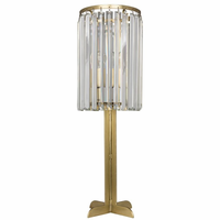 Noir Furniture Shala Lamp, Antique Brass