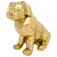 Noir Furniture Sitting Dog, Brass
