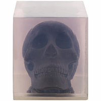 Noir Furniture Skull in Resin, Black