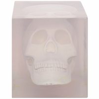 Noir Furniture Skull in Resin, White