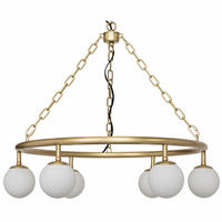 Noir Furniture Small Modena Chandelier, Antique Brass