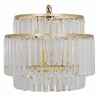Noir Furniture Small Round Deco Chandelier, Antique