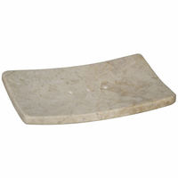 Noir Furniture Soap Dish, White Marble