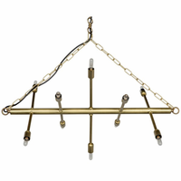 Noir Furniture Sperato Chandelier, Metal w/Brass