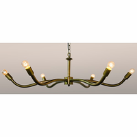 Noir Furniture Sprinkle Chandelier, Antique Brass