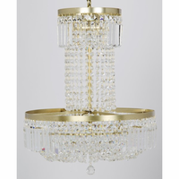 Noir Furniture St. Petersburg Chandelier, Antique Brass,