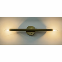 Noir Furniture Straight Sconce, Antique Brass