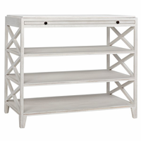 Noir Furniture Sutton Criss-Cross, White Wash