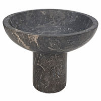 Noir Furniture Tibby Bowl, Black Marble