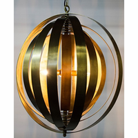 Noir Furniture Tournant Pendant, Antique Brass