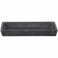Noir Furniture Tray, Black Marble