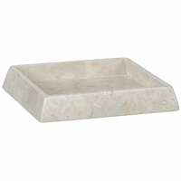 Noir Furniture Tray, White Marble