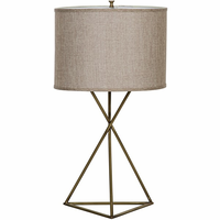 Noir Furniture Triangle Table Lamp, Antique Brass