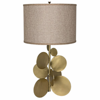 Noir Furniture Vadim Table Lamp, Antique Brass